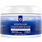 Keratin Complex Hair Conditioner & Mask - Best Treatment For Dry & Damaged Hair - Coconut Butter, Organic Argan...