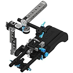 Fotga Quick Set Up Rig with 15mm Standard Quick Release Rail Rod Plate Rotatable Handle Camera Cage for Blackmagic BMCC BMPCC 5DII III A7 A7S A7R2 A7RM2 GH3 GH4 7D D7000 D7100 D750 D800 DSLR