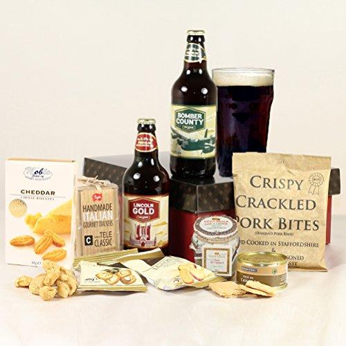 Gentlemen's Ale & Nibbles Hamper Gift Box - Send 'Beer'thday Cheers