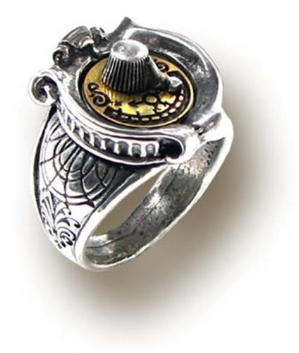 Alchemy Empire: Steampunk GMT Gender Gauge Ring