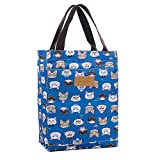 Toniker Grocery Shopping Bag with Waterproof Leak Proof Lining Large Collapsible Printing Tote Bag Lunch Box Bag