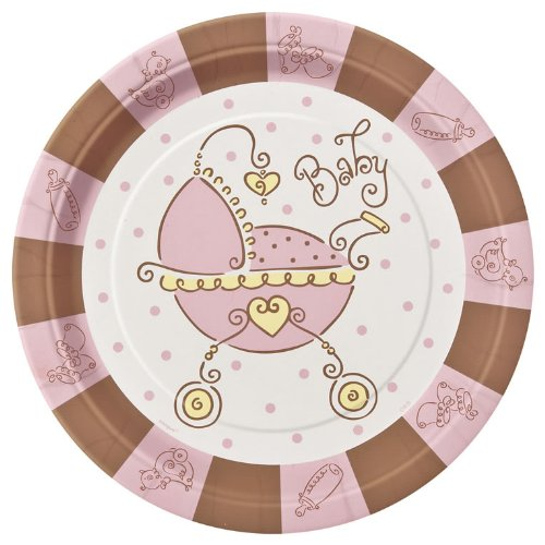 "Baby Joy Pink 9"" Lunch/Dinner Plates 8Ct front-12352"