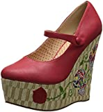 Bettie Page Women's BP475-Calavera Wedge Pump