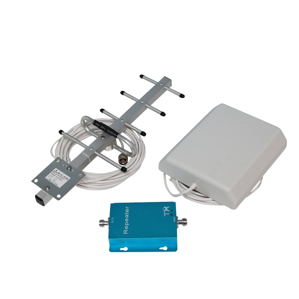 Фото Phonetone 62dB 850MHz 3G GSM CDMA Cell Phone Signal Booster Repeater Amplifier Kit with Indoor Panel Antenna and Outdoor Yagi Antenna for Home/Office Use