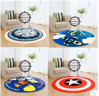 Captain America Short Carpet Mats Cover Non-Slip Machine Washable Outdoor Indoor Bathroom Kitchen Decor Rug ,