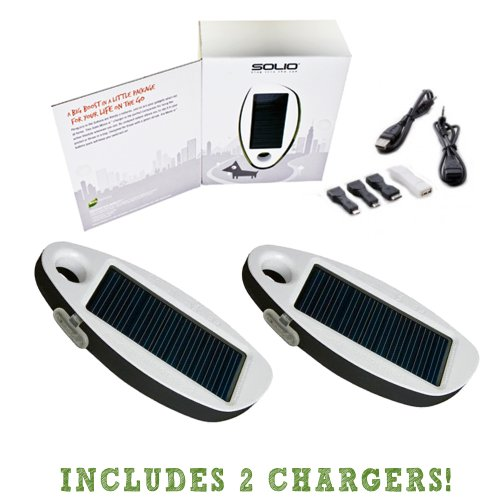 Solio Mono-a Universal Solar Battery Charger - Get 2 Chargers in this Kit!