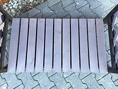 Kaminholzregal 121x67x136 cm, schwarz grau lasiert, inkl. wetterfestem Dach, Brennholz-Lager, Unterstand von SAUERLAND bei Gartenmöbel von Du und Dein Garten