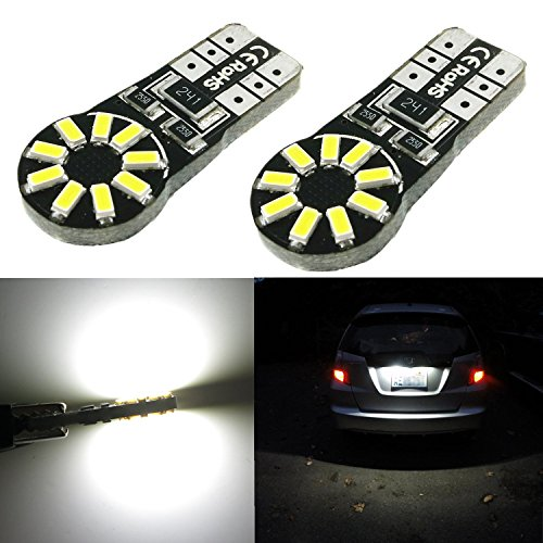 Alla Lighting T10 Wedge 194 168 2825 W5W CANBU Error Free Super Bright White High Power 3014 18-SMD LED Lights Bulbs (2004 Toyota Camry Rear Light Bulb compare prices)