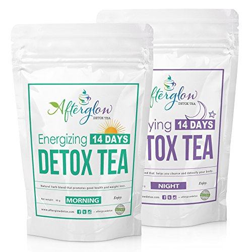 Afterglow Detox Tea Combo (Morning and Night),  14 Days Detox (Juicing Package compare prices)