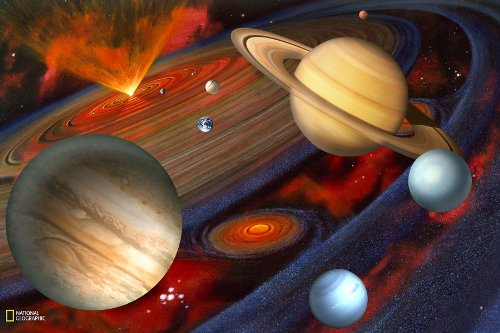 Brewster National Geographic Kids NG94613 Planets Wall Mural, 72-Inch x 48-Inch