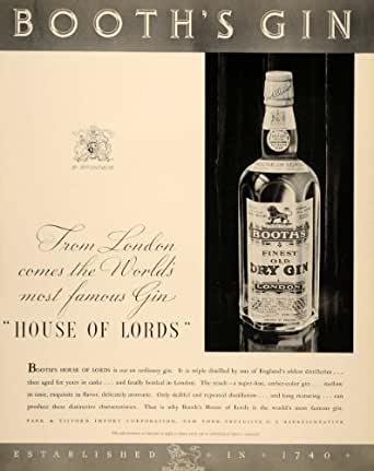 amazoncom 1934 ad booths finest old dry gin london park