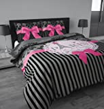 Sleeptime Duvet Cover Set I Love Paris Pink - 140x200/220 - Pink + With 1 Pillowcase 60x70
