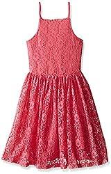 Ella Moss Slim Girls Bria Sleeveless Dress, Pink, 14