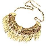 Amonfineshop(TM) Pendentif en or des femmes de la mode chaîne tour de cou déclaration trapu collier plastron