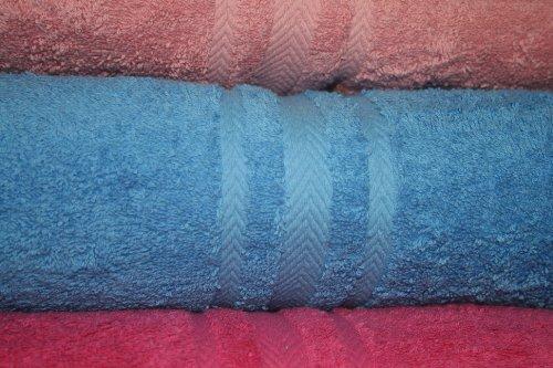 100% Pure Cotton Luxury Plain Sky Blue Face Cloth / Flannel - 550gsm, 30x30cms