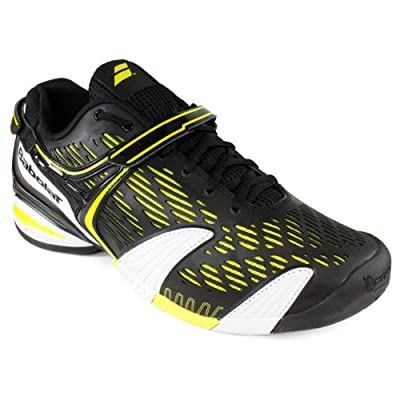 Babolat Propulse 4 Mens Tennis Shoes (8, Black/Yellow/White)