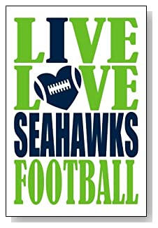 Live Love I Heart Seahawks Football lined journal - any occasion gift idea for Seattle Seahawks fans from WriteDrawDesign.com