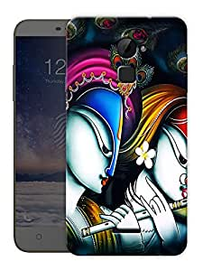 """Krishna Radha Abstract Printed Designer Mobile Back Cover For """"Coolpad Note 3 Lite"""" By Humor Gang (3D, Matte Finish, Premium Quality, Protective Snap On Slim Hard Phone Case, Multi Color)"""