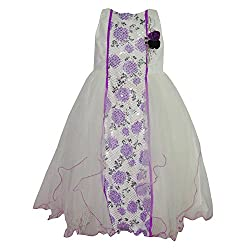 Chokree Purple Color Party Wear Dress/Frock for girl