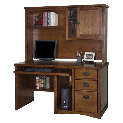 kathy ireland Home by Martin Mission Pasadena Single Pedestal Computer Desk