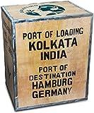 Original-Teekiste-Darjeeling-Indien-gro-aus-Holz-bersee-40-x-50-x-60-cm