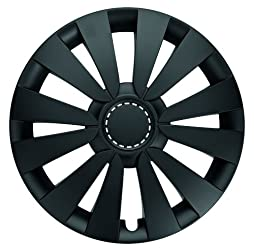 Albrecht 09535 Goal Matte Black 15″ Wheel Cover, (Set of 4)