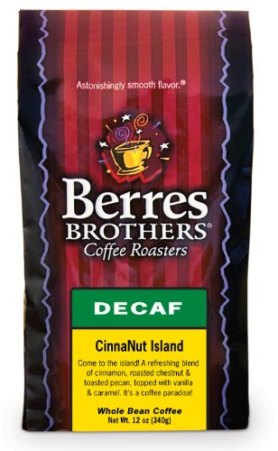 Berres Brothers Cinnanut Island Decaf Whole Bean Coffee 12 Oz.