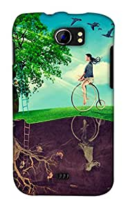 Print Haat Back Case Cover for Micromax Canvas 2 A110 (Multicolor)