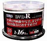 ZERO DVD-R 4.7GB 1-16倍速対応 50枚 データ・アナログ映像のパソコンでの記録用・スピンドルケース入り・インクジェットプリンタでのワイド印刷可能 ZEDR47-16X50PW