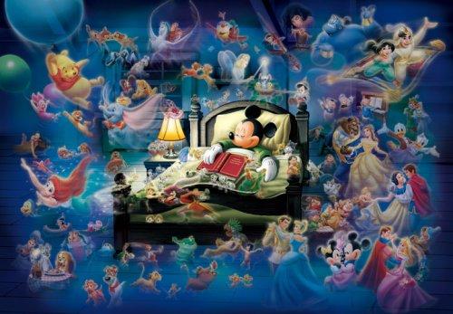 108ピース ジグソーパズル ディズニー ミッキーのドリームファンタジー 光るジグソー(18.2x25.7cm)