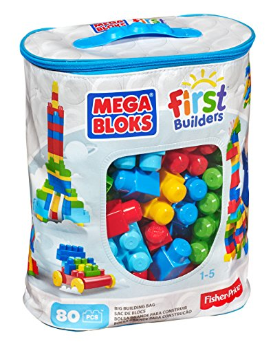 Mega Bloks First Developers Giant Construction Bag, 80-Piece (Vintage)