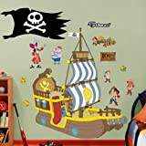 "Fathead Wall Decal, Real Big, ""DISNEY Jake and The Neverland Pirates Bucky Pirate Ship"""