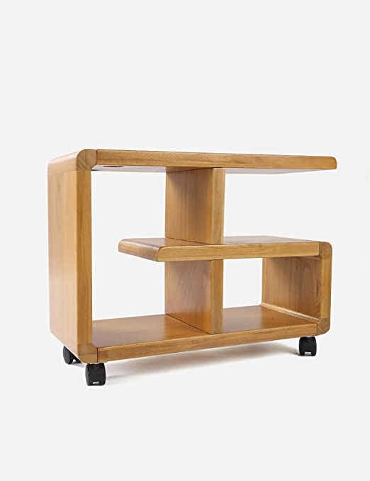 Solid Wood Shelf Bookcase Seating Corner Cabinet Side Table Angle Frame (Two Sizes Are Available) ( Style : A )