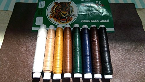 Purchase 20 Meters - Ritza 25 - Waxed Tiger Thread - Braided Polyester for Hand Sewing Leather (Four...
