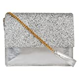 Berrypeckers Silver Glitter Sling Bag
