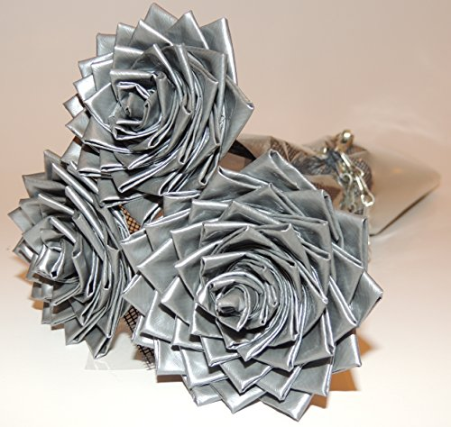 Unique Gift : Premium Silver Duct Tape Flowers for Him / Roses for Him