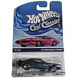 Hot Wheels Cool Classics Blue 73 Ford Gran Torino 12/30
