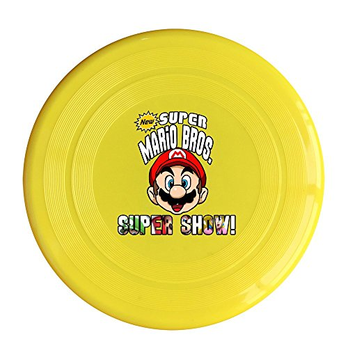 SAXON13CAP Funny New Cool Mario Figure 150g Yellow Toy Flying Disc