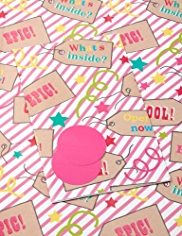 2 Fun Girly Sheet Wrapping Papers