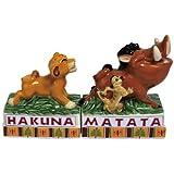 Westland Giftware Hakuna Matata Magnetic Ceramic Salt and Pepper Shaker Set, 3.5-Inch