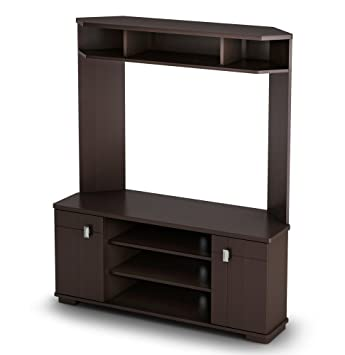 South Shore Vertex collection TV Stand Chocolate