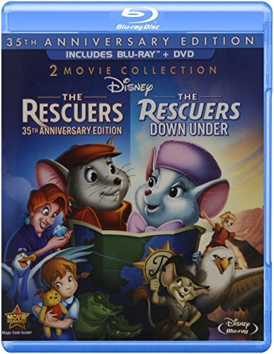 The Rescuers: 35th Anniversary Edition (The Rescuers / The Rescuers Down Under) (Three-Disc Blu-ray/DVD Combo in Blu-ray Packaging) by Disney