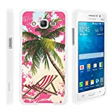 img - for TurtleArmor   | Samsung Galaxy Grand Prime Case | G530 | Go Prime [Slim Duo] Fitted Ultra Compact Slim Hard Cover Rubberized Coat Snap On Shell Protector on White Beach Design - Pink Sand Palm Tree book / textbook / text book