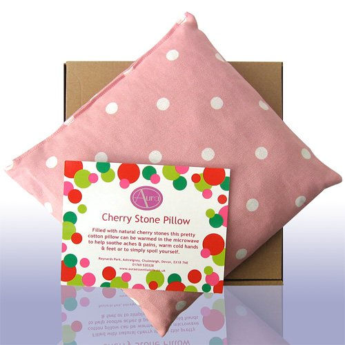 Pink Spotty Cherry Stone Pillow + Lavender & Eucalyputs Essential Oils