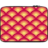 Snoogg Circular Red Pattern 2526 13 To 13.6 Inch Laptop Netbook Notebook Slipcase Sleeve
