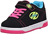 Heelys Kids' Dual up X2 Black/Gum Nub PU Sneaker