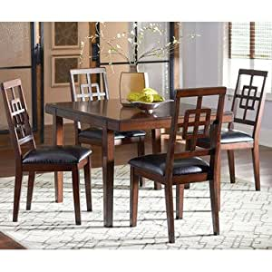 Standard Furniture Ally 5 Piece Dining Room Set In Golden Brown C