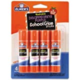 Washable School Glue Sticks, Disappearing Purple, 4/Pack, Total 6 Packs