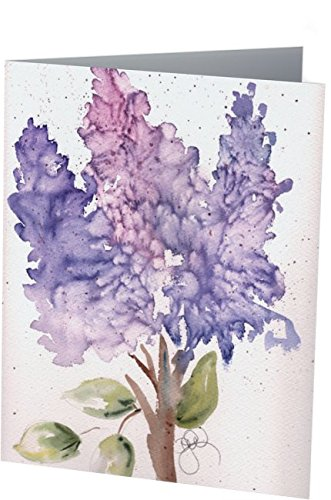 Easter Greeting Cards: 6 Blank Artistic Watercolor Botanical Note Cards, with Envelopes - Easter Hyacinth