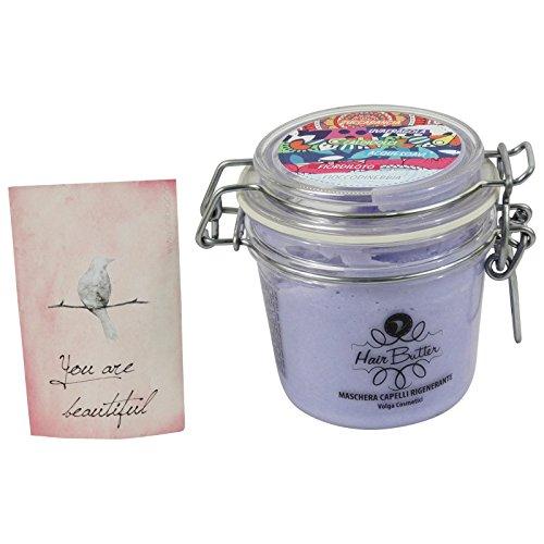 Maschera per Capelli Idratante e Rigenerante con Ingredienti Naturali con Mosto di Uva Fragola